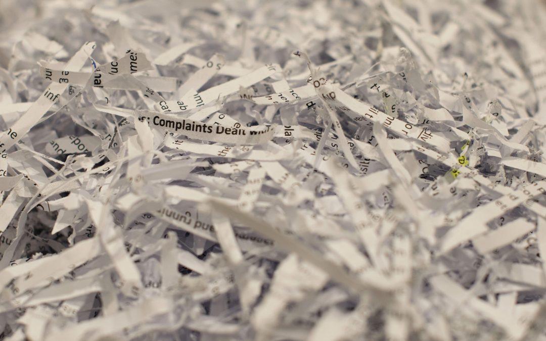 Was Sie bei einer Vernichtung Ihrer Dokumente beachten sollten